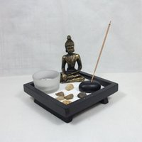 Wholesale 2015 Vintage candle holder home docor romantic YD50 Chinese Zen Buddhist statues sandbox aromatherapy cand
