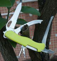 Wholesale Fluorescence Yellow Swiss Knife mm MN Pocket Folding Knives Multifunctional Survival Knife Outdoors Folding Knife