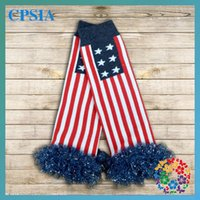 Wholesale 2015 New Arrival Floral Calentadores Hot Supply Outside The Single color Stitching Stars And Stripes Skirt Girls In Tube Socks