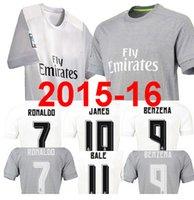 Wholesale Envío gratis Real Madrid jersey de fútbol Cristiano Ronaldo BALE Benzema de fútbol Camisetas de futbol