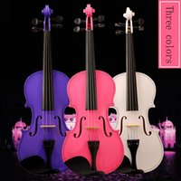 beginner series acoustic - Girls series handmade wooden violin instrument adult beginners