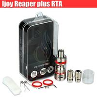 Authentic iJoy Reaper plus RTA atomiseur Sub ohm Tank Top Side Système de remplissage Delrin Drip Tips double Airflow Bas RDA e cigs Modsvapor