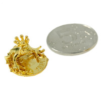 Wholesale 2015 Cute souvenirs New Metal souvenir the mini coin mascot Classic gifts for Get Money Frog with a coin purse decorations