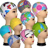 Wholesale Swimming Caps Boys Girls Hats Cartoon Many Styles for Children Kids Child Lycra Swim Bathing Cap Digital Print DHL Factory