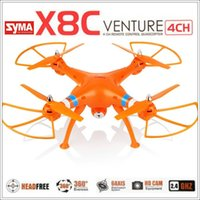 drone - 2015 New Syma X8C G ch Axis Venture with MP Wide Angle Camera RC Drone Quadcopter RTF RC Helicopter Model1 model2 DHL Free