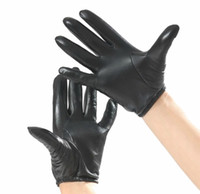 Wholesale New Men s Genuine Leather Driving Gloves Police Tactical Gloves