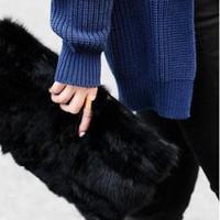 Wholesale 2014 Winter Fur Clutch Bag Evening Bag Black Color pc B5
