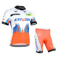 team wear - 2015 New Style KATOWA non bib pants suits Short Sleeve cycling Jerseys cycling team wear Orange red suit color for choice