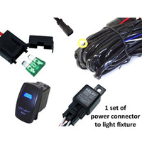 Wholesale 40A Wiring Harness Kit With A LED Light Bar Laser Rocker Switch For Two lights yy041
