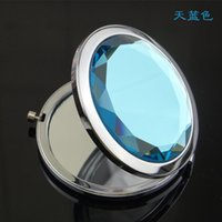 compact mirror - Hot sale New style High Quality Ten Colors Cosmetic Pocket Mirror Makeup Blank Compact Mirror Jy120