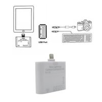 Wholesale USB MS MMC TF SD Card Reader Adapter for iPad Mini Mini iPad Air in1 Camera Connection Kit