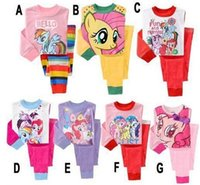 little girls clothing - 2015 My little pony clothes girls clothing sets suits kids pajamas children piece sleepwear fashion set year set