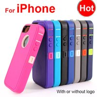 iphone 5c case - Hybrid in Robot Case for iPhone plus S C PC TPU Cover Defender with Front Screen Belt Clip Packing DHL