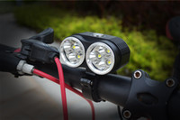 bicycle frame packs - New LM T6 Bicycle light Bike Lamp xCree XM L T6 LED Light Lamp With bike frame v Battery Pack