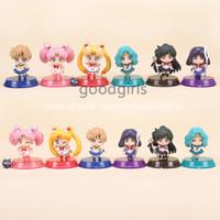 big pluto - Anime Sailor Moon Tsukino Usagi Neptune Pluto Saturn Chibi moon PVC Action Figures Toys SAFG025
