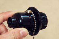 Plastic bakelite pulls - E26E27 screw lamp bases Bakelite zipper tooth UL lamp holder bulb base pull switch table light floor lamp accessories