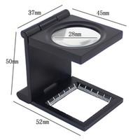mini microscope - 10X mm Microscope Ferramentas Mini Zinc Alloy Magnifier Loupe with Scale for Textile Optical Foldable Magnifying Glasses E0156