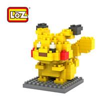 Wholesale LOZ Diamond Blocks Pocket Monsters pikachu Toy Building Blocks Sets Educational DIY Bricks Model best christmas gift for children