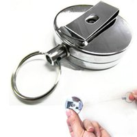 Wholesale Hot Sale Creative Retractable Keychain Key Chains Metal Card Badge Holder toycity