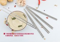 Wholesale Factory Price pairs Home Kitchen Dinnerware Stainless steel chopsticks Chinese Chopsticks Kitchen Rrestaurant Chopsticks