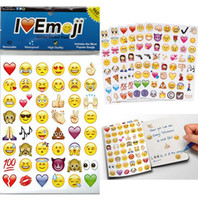 Wholesale 20 Sheets Die Emoji Removable Decal Mural Home Decor Emoji Smile Sticker For Laptop Notebook Message facebook tiwtter children s gifts