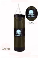 Wholesale 60Lb Fitness Training Unfilled Boxing Punching Bag Sand Punch Bag Empty with Hook Metal Chain Army Green