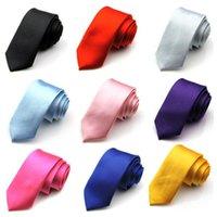 Wholesale 20 Colors New Hot Men Leisure Slim Narrow Arrow Necktie Skinny Tie fedex