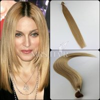 cold fusion hair extensions - Cold Fusion Pre bonded Hair Extensions Dark Blonde g quot A grade Italian Stick I Tip Remy Brazilian Hair Extensions