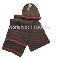 Wholesale One set Scarf amp Hat Winter for Adult women men Fashion style Good quality