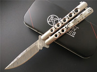 acid etching stainless steel - Rare The one BM31 Balisong Butterfly Knife quot Acid etched Plain Fake Damascus C Stainless steel Standard knives with retail box
