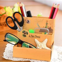 Cheap A24 DIY Paper Board Storage Box Desk Decor Stationery Makeup Cosmetic Organizer New T1288 P