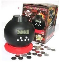 antique coin banks - Creative cute lazy bomb alarm clock landmine explosion led alarm clock coins piggy piggy bank