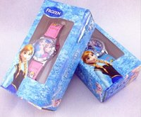 Wholesale 30 OFF Frozen PVC Pendant Frozen Watch Kids Fashion Transparent Box of Quartz Cartoon Wristwatch Jelly Candy with Led Box Express Give