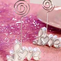 Wholesale 100pc Love WEDDING Place Card CLIP Holder wedding photo frame table card holder Wedding Favor Party supplies Z511