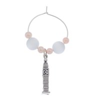 big drinking glass - PC Wine Glass Charm Big Ben Pendant Drink Marker Party Table Decoration Over Free Express