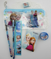 Plastic plastic ruler - Frozen stationery set for Students children stationery Frozen Pencil Cases Frozen Bags Frozen Ruler Frozen Pencils Pencil Bags Toys Gifts
