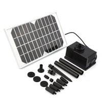 Wholesale 220L H Solar Power Panel Kit Fountain Water Pump For Pond Pool Brand New