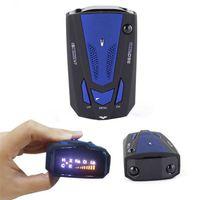 Wholesale 2016 New V7 Car Radar Car Anti Radar Detector Russia English inch LED Screen Display Car Speed Control Detector