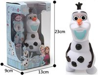 Wholesale Frozen dolls olaf inch musical Piggy bank Saving Coin music box Unique toy kids Decorative gift Novelty