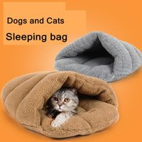 Wholesale Dogs And Cats Sleeping Bag Pet Supplies Pet Nest Cotton Material Keep Warm S M Gray And Khaki