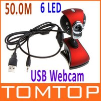 Wholesale 50M LED USB PC Camera HD Webcam Camera Degrees Rotary Function Web Cam with MIC for Computer PC Laptop x8000 Pixel