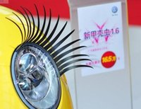 automotive cartoons - Car Eyelashes Stickers M gel PVC Black D Automotive Headlight Eyelashes Car Eye Lashes Auto D Eyelashe Decal Accessories stickers for car