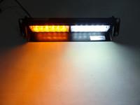 Wholesale Bright W LED Bulb Emergency Vehicle Car Truck Visor Dashboard Windshield Rear Strobe Lights Warning Security Dash Light Bar Amber White