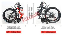 Wholesale NEW hot sale high quality quot Foldable electric bicycl mountain bike electric bike V AH e bike with DHL