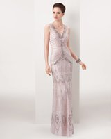 wrap dress - 2016 sexy fashion long Evening dresses double v neck Sheer Back Beads Crystals with Sash Shining Celebrity Gowns Best Selling new arrival