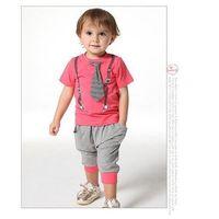 Cheap 2015 baby boy clothes boys suits summer models cotton leisure suit children' clothing girls baby kids set