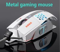 Wholesale Original Brand DPI D Optical LED Gaming Mouse Design Professional USB Wired Game Mice For Computer Metal Mouse FreeShipping