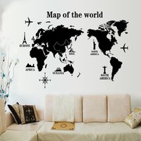 animals atlas - map of world CM Big Global World Map Atlas Vinyl Wall Art Decal Sticker wall paper Learning map for christmas gift