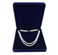 Wholesale velvet jewelry box long pearl necklace box gift box for double strings sold per bag of