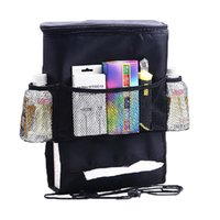 back seat storage bag - 2015 New Seat Back Organizer Multifunction Travel Storage Bag Pocket Thermal Cooling Compartment Stowing Tidying Tissue Box